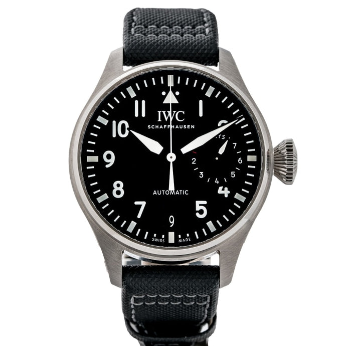 Pre-owned IWC Big Pilot Black Dial Stainless Steel 46mm (IW500912) - Boston