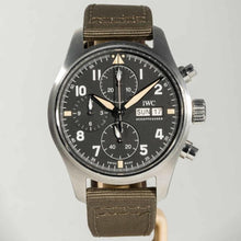 Load image into Gallery viewer, IWC Pilot's Chronograph Spitfire Stainless Steel 41 Black (IW387901) - Boston