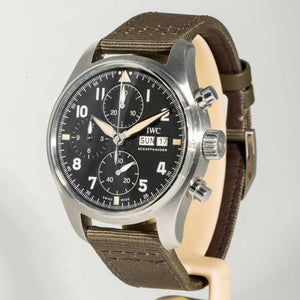 IWC Pilot's Chronograph Spitfire Stainless Steel 41 Black (IW387901) - Boston