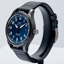 Load image into Gallery viewer, Pre-owned IWC Pilots Mark XVIII Laureus Blue Dial Black Ceramic Automatic 41mm (IW324703) - Boston