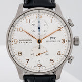 Pre-owned IWC Portugeiser Chronograph Stainless Steel 41mm (IW371445) - Boston