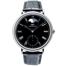 Load image into Gallery viewer, Pre-owned IWC Vintage Portofino Steel Black Dial Moon Phase 46mm (IW544801) - Boston