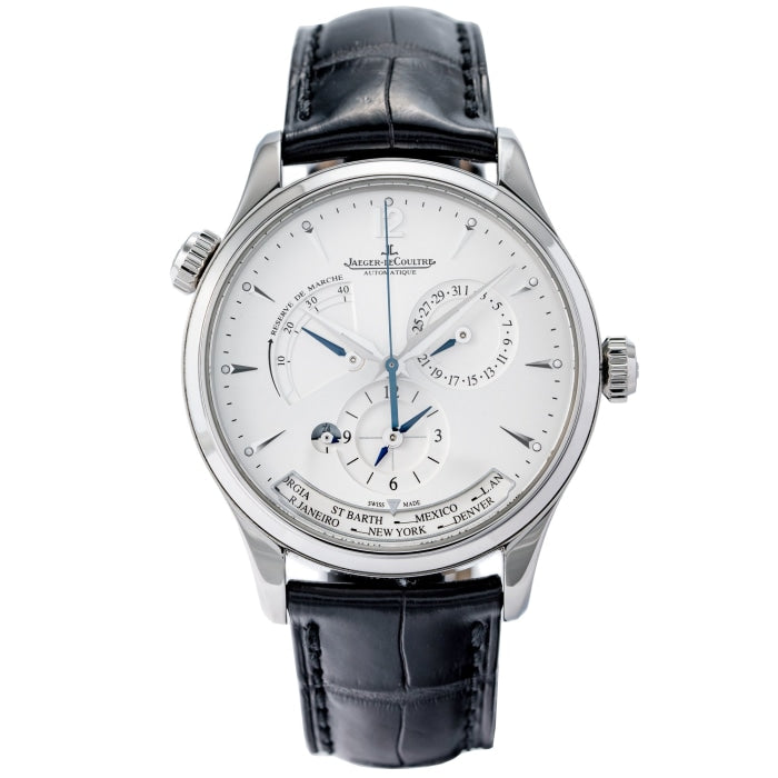 Pre-owned Jaeger-LeCoultre Master Geographic Stainless Steel 39mm (Q1428421) - Boston