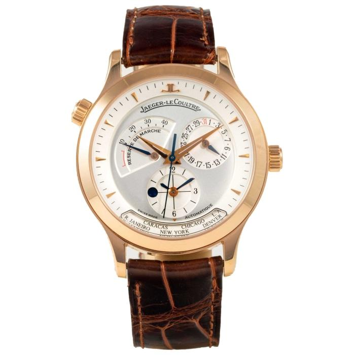 Jaeger Le Coultre Master Control Geographic Rose Gold 38 Silver - Boston