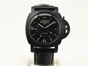 Pre-Owned Panerai Luminor 1950 10 Days Gmt Ceramica 44Mm (Pam00335) - Watches Boston
