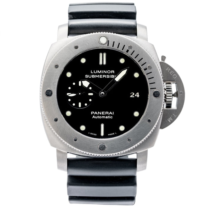 Pre-owned Panerai Luminor 1950s Submersible Titanium 47mm (PAM00305) - Boston