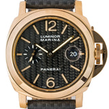 Pre-Owned Panerai Luminor Marina Carbon Fiber Dial Yellow Gold 44Mm (Pam00140) - Watches Boston