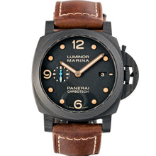 Load image into Gallery viewer, Pre-owned Panerai Luminor Marina CARBOTECH Black Dial 44mm ref. PAM00661 - Boston