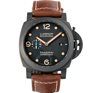 Pre-owned Panerai Luminor Marina CARBOTECH Black Dial 44mm ref. PAM00661 - Boston