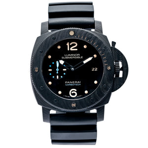 Pre-owned Panerai Luminor Submersible 1950 3-Days CARBOTECH 47mm (PAM00616) - Boston