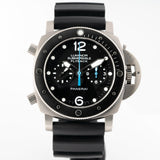 Pre-owned Panerai Luminor Submersible Flyback Chronograph Titanium 47mm (PAM00615) - Boston