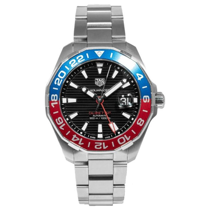 TAG Heuer Aquaracer GMT PEPSI GMT Stainless Steel 43mm (WAY201F.BA0927) - Boston