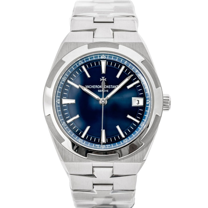 Pre-owned Vacheron Constantin Overseas Blue Dial Stainless Steel 41mm (4500V/110A-B128) - MINT UNWORN - Boston