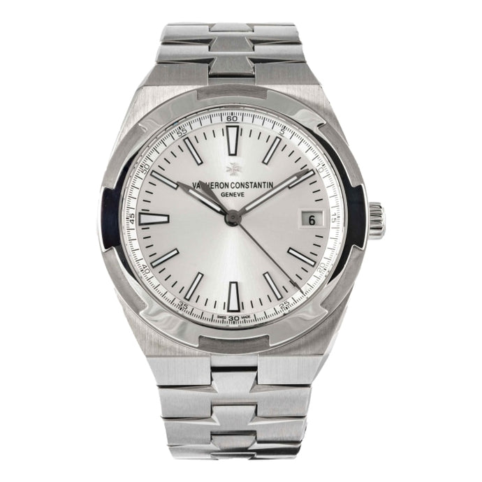 Pre-owned Vacheron Constantin Overseas Silver Dial Stainless Steel 41mm (4500V/110A-B126) - Boston