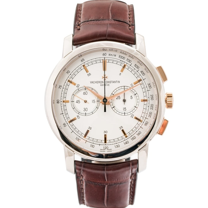 Pre-owned Vacheron Constantin Patrimony Traditionelle Two-Tone Chronograph 42mm (47192/000B-9352) - Boston