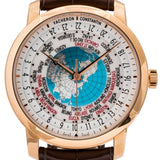 Pre-Owned Vacheron Constantin Traditionnelle World Time 42.5Mm Rose Gold (86060/000R-9640) - Boston