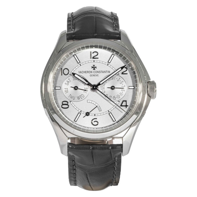 Pre-owned Vacheron Fiftysix Day-Date Stainless Steel 40mm (4400E/000A-B437) - Boston