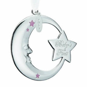 Reed & Barton Annual Christmas 2017 Babys First Moon Ornament - Home & Decor Boston