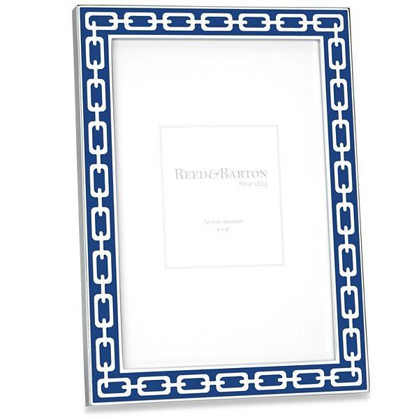Reed & Barton~ Silver Link Navy Blue Frame - Home & Decor Boston