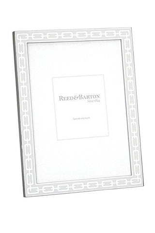 Reed & Barton~ Silver Link White Frame - Home & Decor Boston
