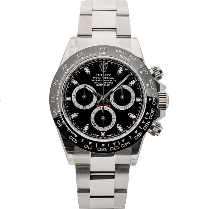 Rolex Cosmograph Daytona Black Ceramic Bezel Dial Stainless Steel 40mm (116500) - UNWORN INCOMING - Boston