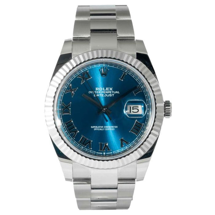 Rolex Datejust 41 Stainless Steel Blue Dial 41mm (126334) - Boston