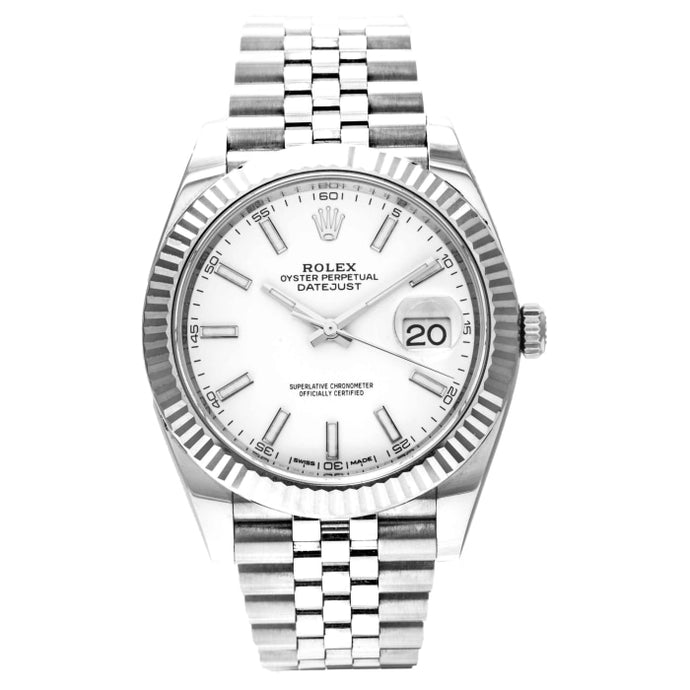 Rolex Datejust 41 Stainless Steel White Dial 41mm (126334)- MINT - Boston