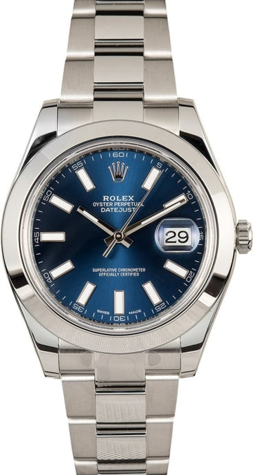 Rolex Datejust Ii 41Mm Stainless Steel (116300) - Watches Boston