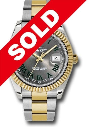 Rolex Datejust Ii 41Mm Stainless Steel & 18K Yellow Gold (116333) - Watches Boston