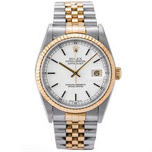 Load image into Gallery viewer, Rolex Datejust White Dial Two-Tone Gold and Stainless Steel 36mm (16233) - Boston