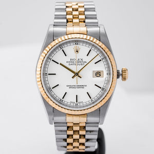 Rolex Datejust White Dial Two-Tone Gold and Stainless Steel 36mm (16233) - Boston