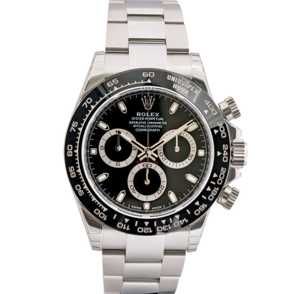 Rolex Daytona Ceramic Bezel Black Dial Stainless Steel 40Mm (116500) - Mint Unworn - Boston