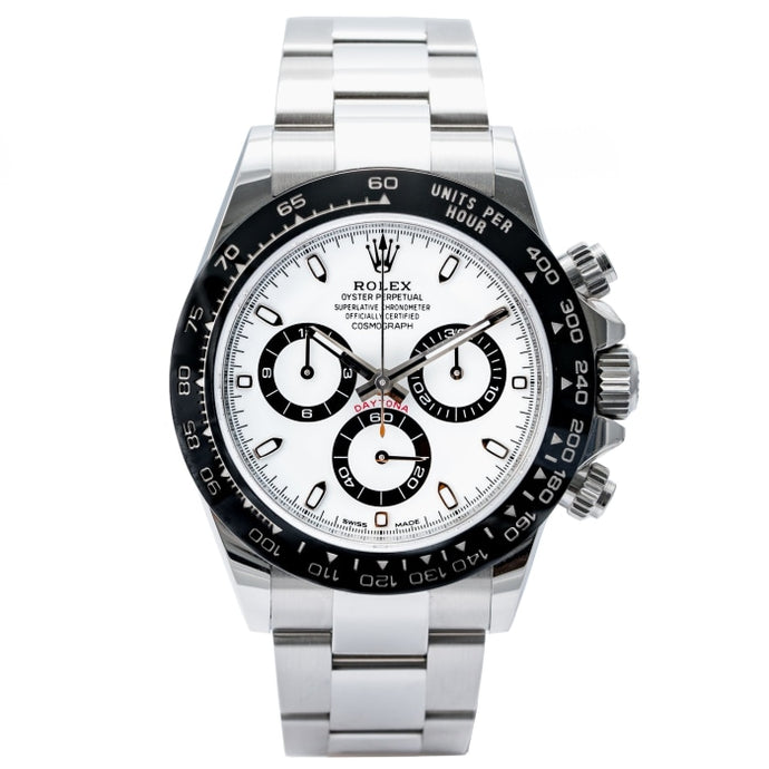 Rolex Daytona Ceramic Bezel White Dial Stainless Steel 40mm (116500LN) - Boston