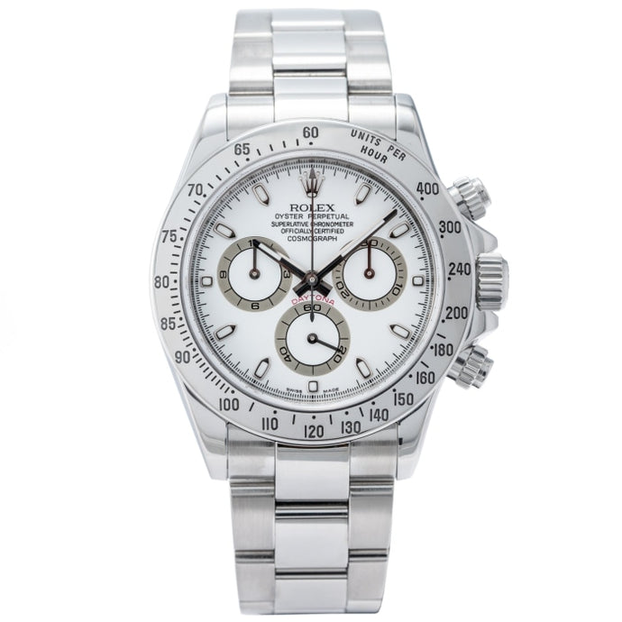 Rolex Daytona Cosmograph White Dial Stainless Steel 40mm (116520) - Boston