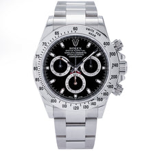 Load image into Gallery viewer, Rolex Daytona Steel Bezel Black Dial Stainless Steel 40mm (116520) - Boston