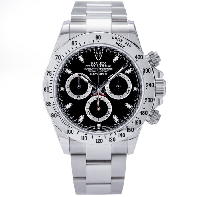 Rolex Daytona Steel Bezel Black Dial Stainless Steel 40mm (116520) - Boston
