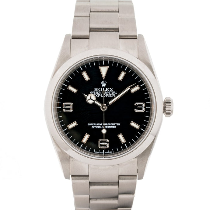 Rolex Explorer I Black Dial Stainless Steel 36Mm (114270) - Boston