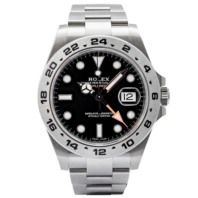 Rolex Explorer II Black Dial Stainless Steel 42mm (216570) - Boston