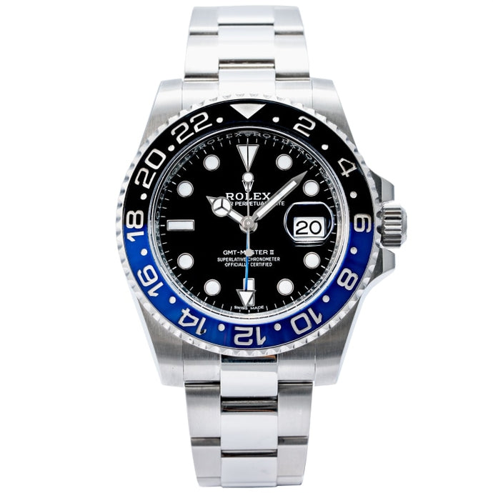 Rolex GMT-Master II Batman Stainless Steel Oyster Bracelet 40MM (116710 BLNR) - Boston