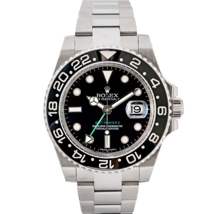 Rolex GMT-Master II Black Ceramic Bezel Stainless Steel 40mm (116710LN) - Boston