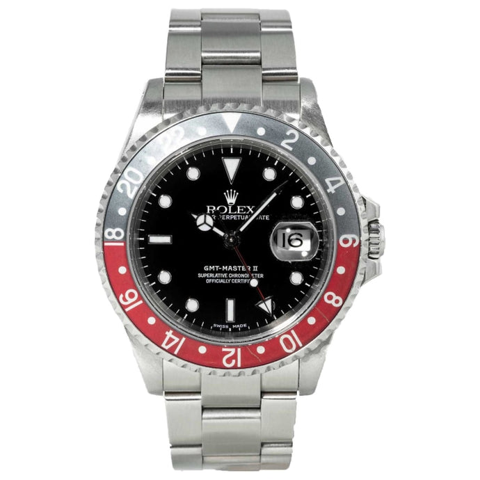 Rolex GMT-Master II Coke Ghost Bezel Stainless Steel 40mm (16710) - Boston
