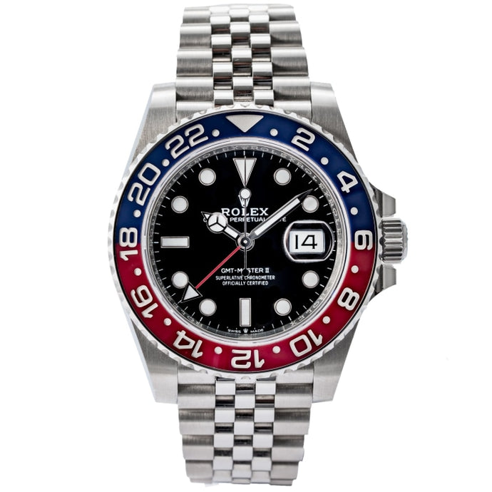 Rolex GMT-MASTER II Pepsi Stainless Steel 40mm (126710BLRO) - Boston