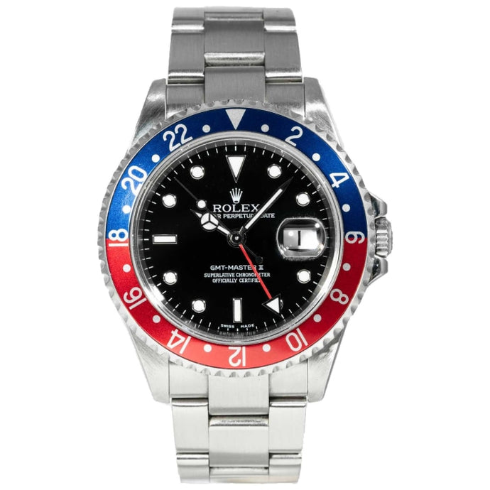 Rolex GMT-Master II Pepsi Stainless Steel 40mm (16710) - Boston
