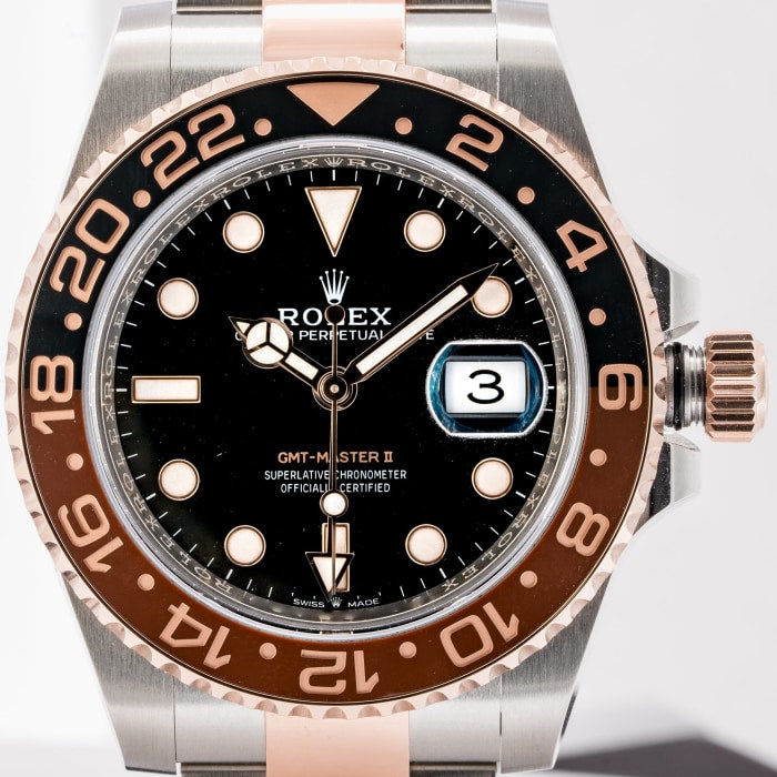 Rolex Gmt Master Ii Root Beer Two Tone Stainless Steel And 18kt Rose
