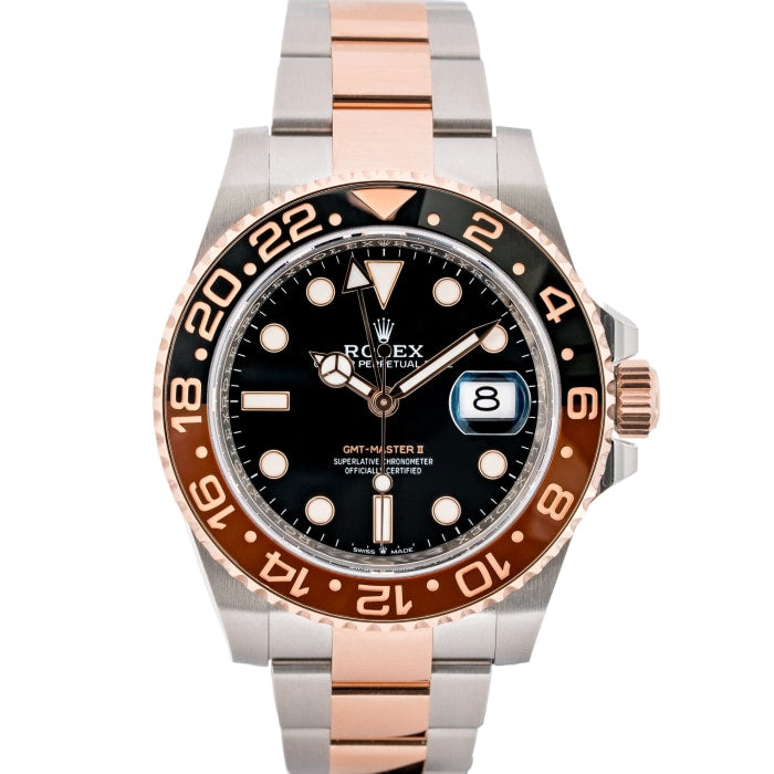 Rolex Gmt Master Ii Root Beer Two Tone Steel And Gold 40mm 126711 C