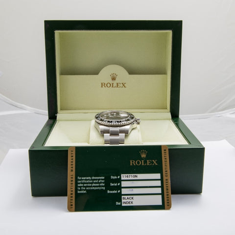 Rolex Gmt Master Ii Stainless Steel 40Mm (116710) - Boston