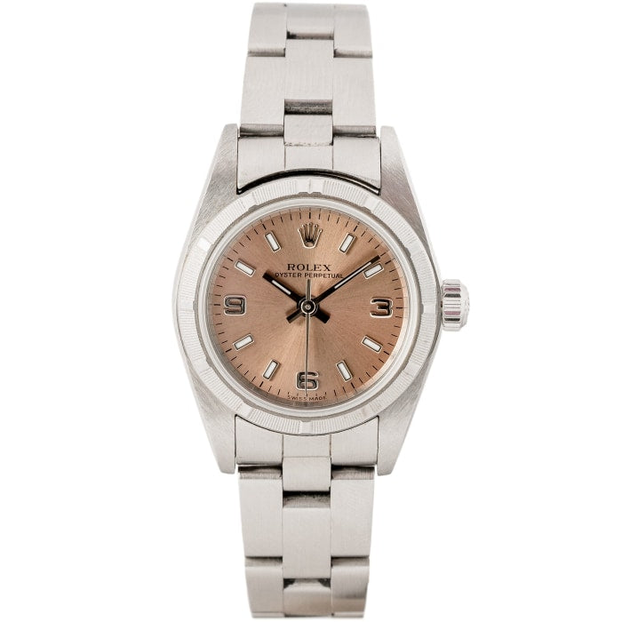 Rolex Ladies Oyster Perpetual Pink Dial Stainless Steel 24mm (76080) - Boston