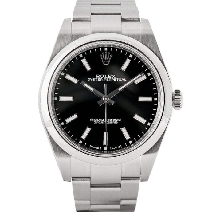Rolex Oyster Perpetual 39 Black Dial Stainless Steel 39mm (114300) - Boston