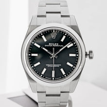 Load image into Gallery viewer, Rolex Oyster Perpetual 39 Black Dial Stainless Steel 39mm (114300) - MINT - Boston