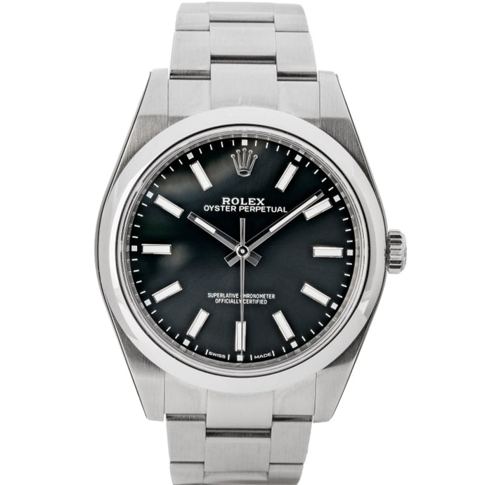 Rolex Oyster Perpetual 39 Black Dial Stainless Steel 39mm (114300) - MINT - Boston